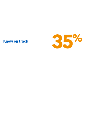 To what extent do you think you are on track to achieve the income you want in retirement?