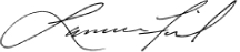 Larry Fink Signature