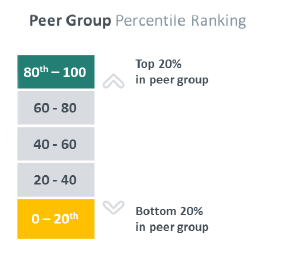 Chart: Peer group percentile ranking