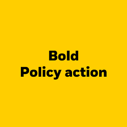Bold policy action